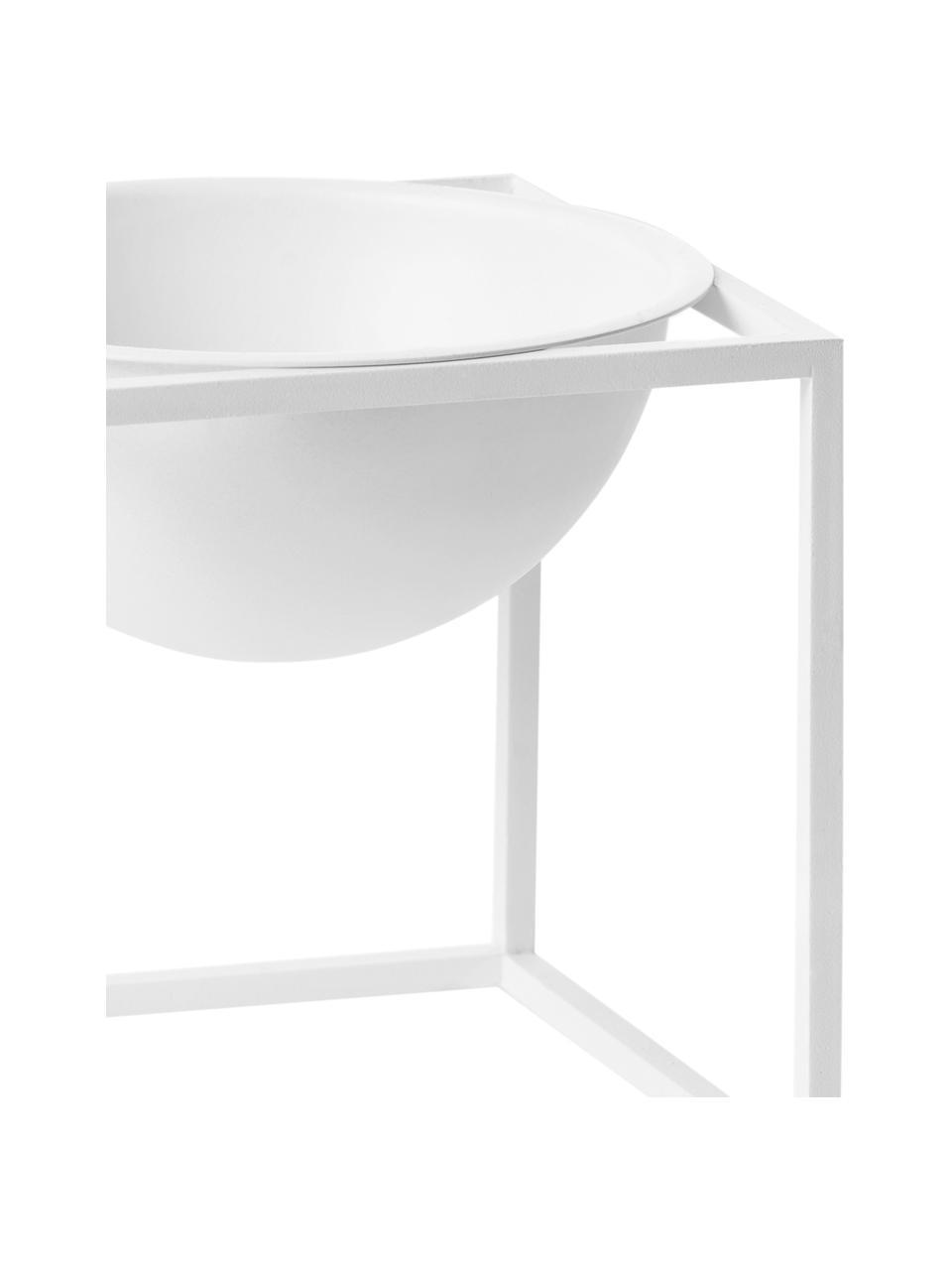 Schale Kubus, Stahl, lackiert, Weiß, 14 x 14 cm