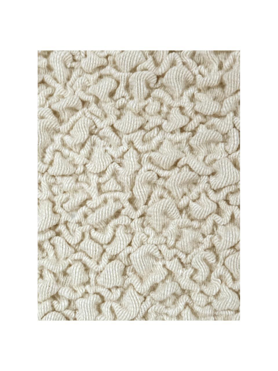 Pokrowiec na sofę Roc, 55% poliester, 35% bawełna, 10% elastomer, Odcienie kremowego, S 200 x W 120 cm