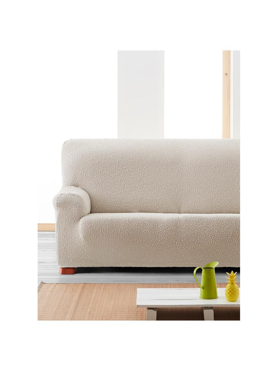 Copertura divano Roc, 55% poliestere, 35% cotone, 10% elastomero, Color crema, Larg. 200 x Alt. 120 cm