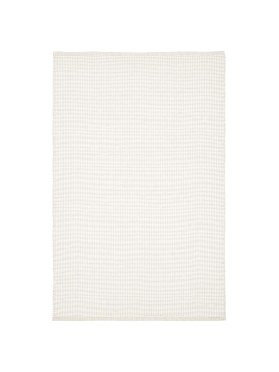 Tappeto in lana color crema tessuto a mano Amaro, Retro: 100% cotone Nel caso dei , Bianco crema, Larg. 200 x Lung. 300 cm (taglia L)
