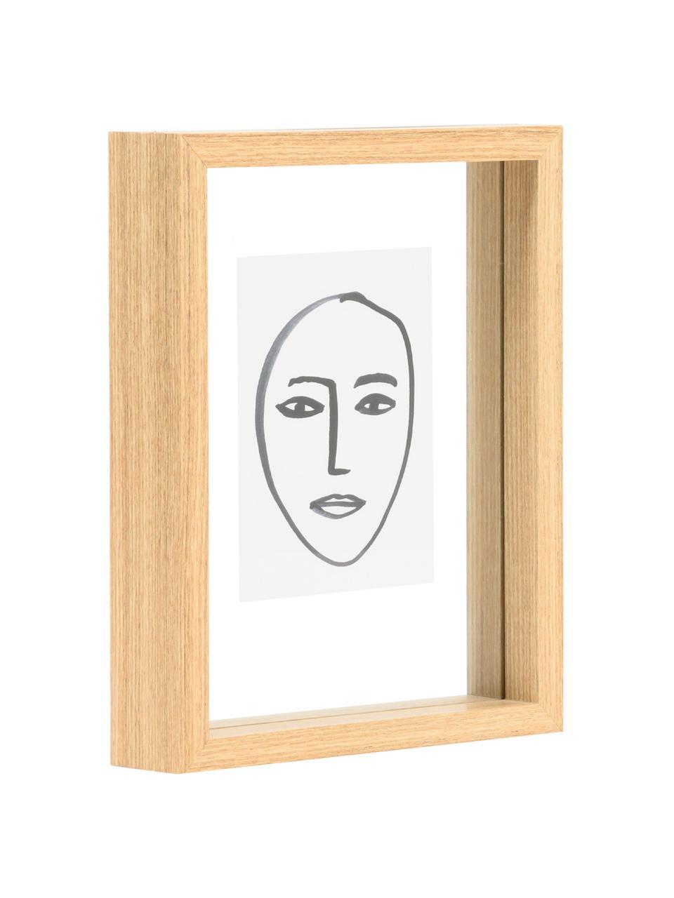 Gerahmter Digitaldruck Aesthetic, Rahmen: Mitteldichte Holzfaserpla, Bild: Papier, Braun, Weiß, Schwarz, 15 x 20 cm
