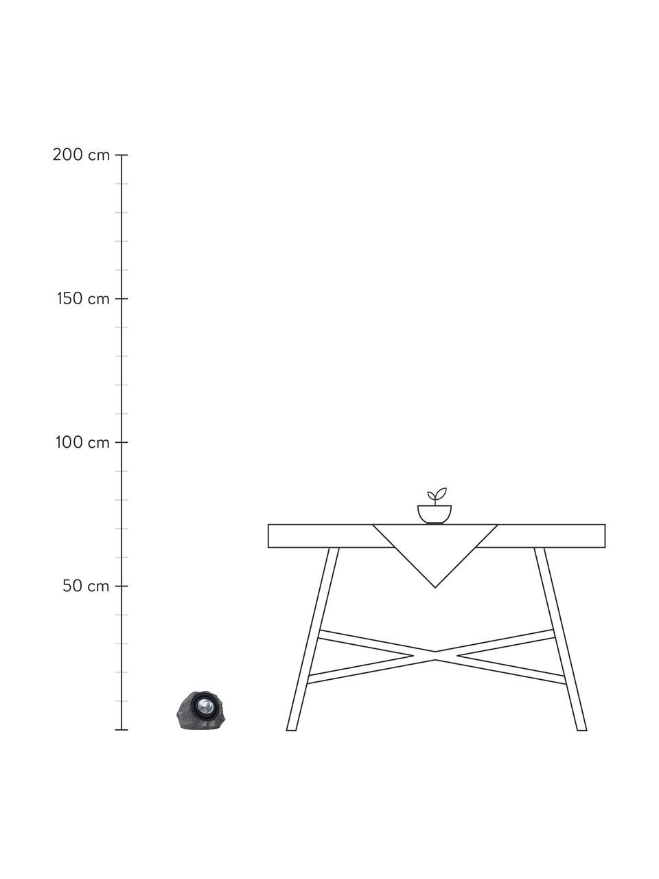 Lampa solarna podłogowa Rocky, Szary, S 20 x W 16 cm