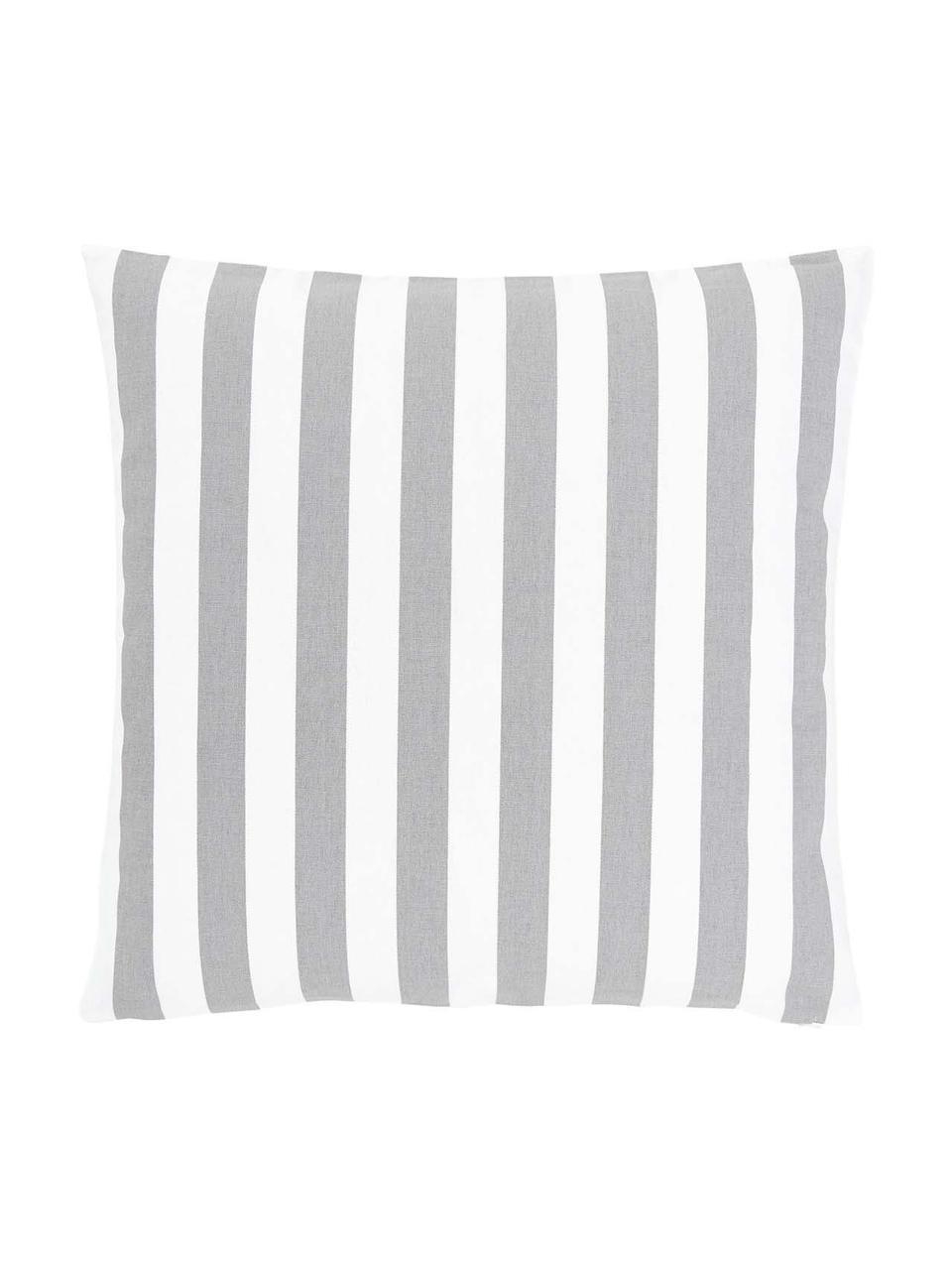 Federa arredo a righe color grigio chiaro/bianco Timon, 100% cotone, Grigio chiaro, bianco, Larg. 50 x Lung. 50 cm