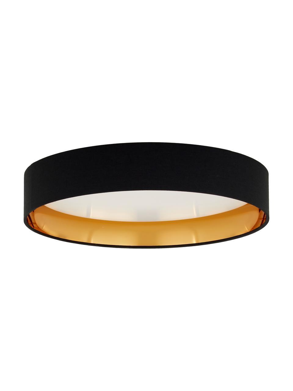 Plafonnier LED rond noir Mallory, Noir
