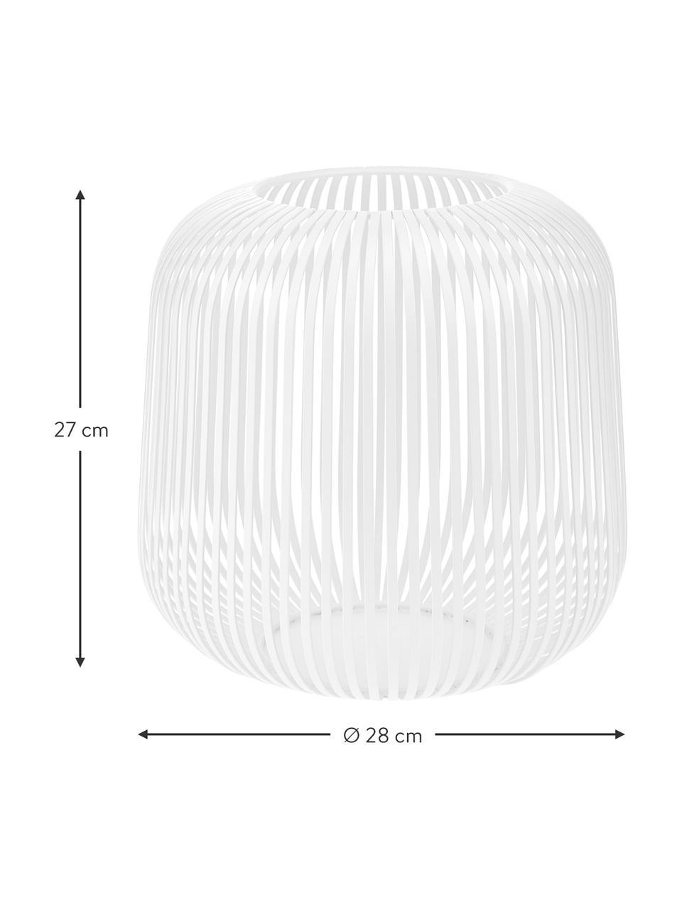Laterne Lito, Metall, Weiß, Ø 28 x H 27 cm