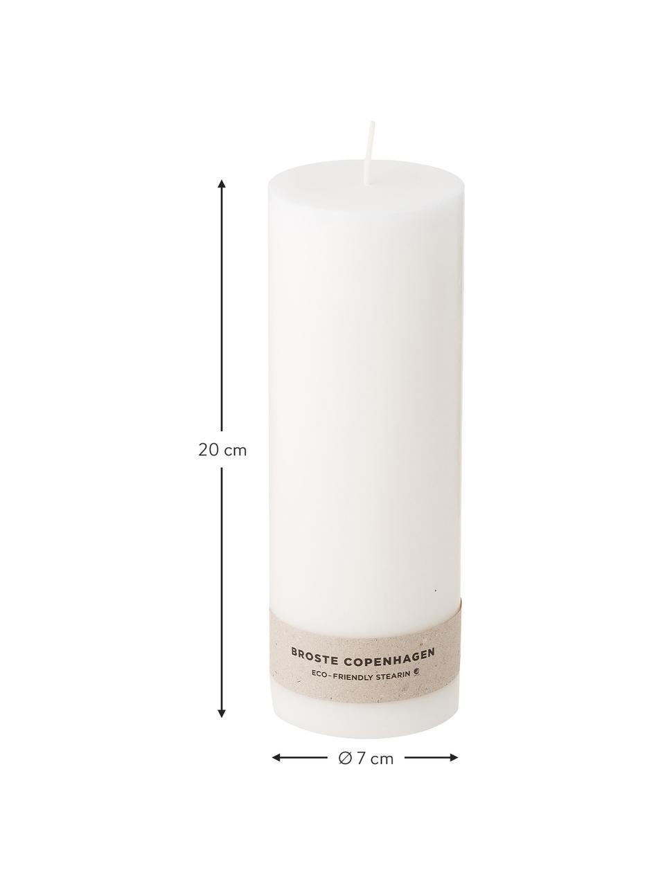 Stumpenkerzen Light, 2 Stück, 100% Stearin, Weiss, Ø 7 x H 20 cm