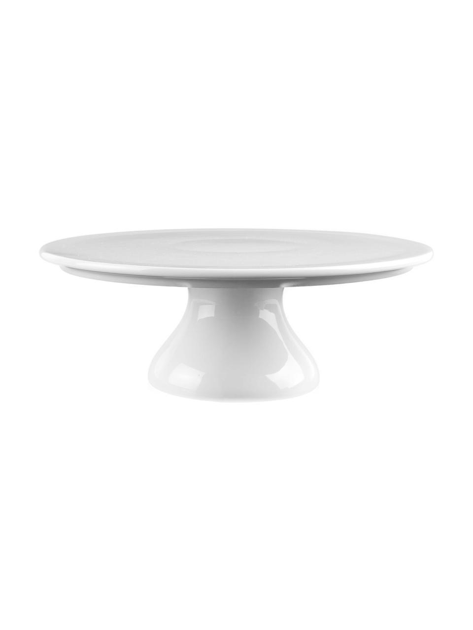 Petit plat à gâteau porcelaine blanche Fonia, Ø24cm, Blanc