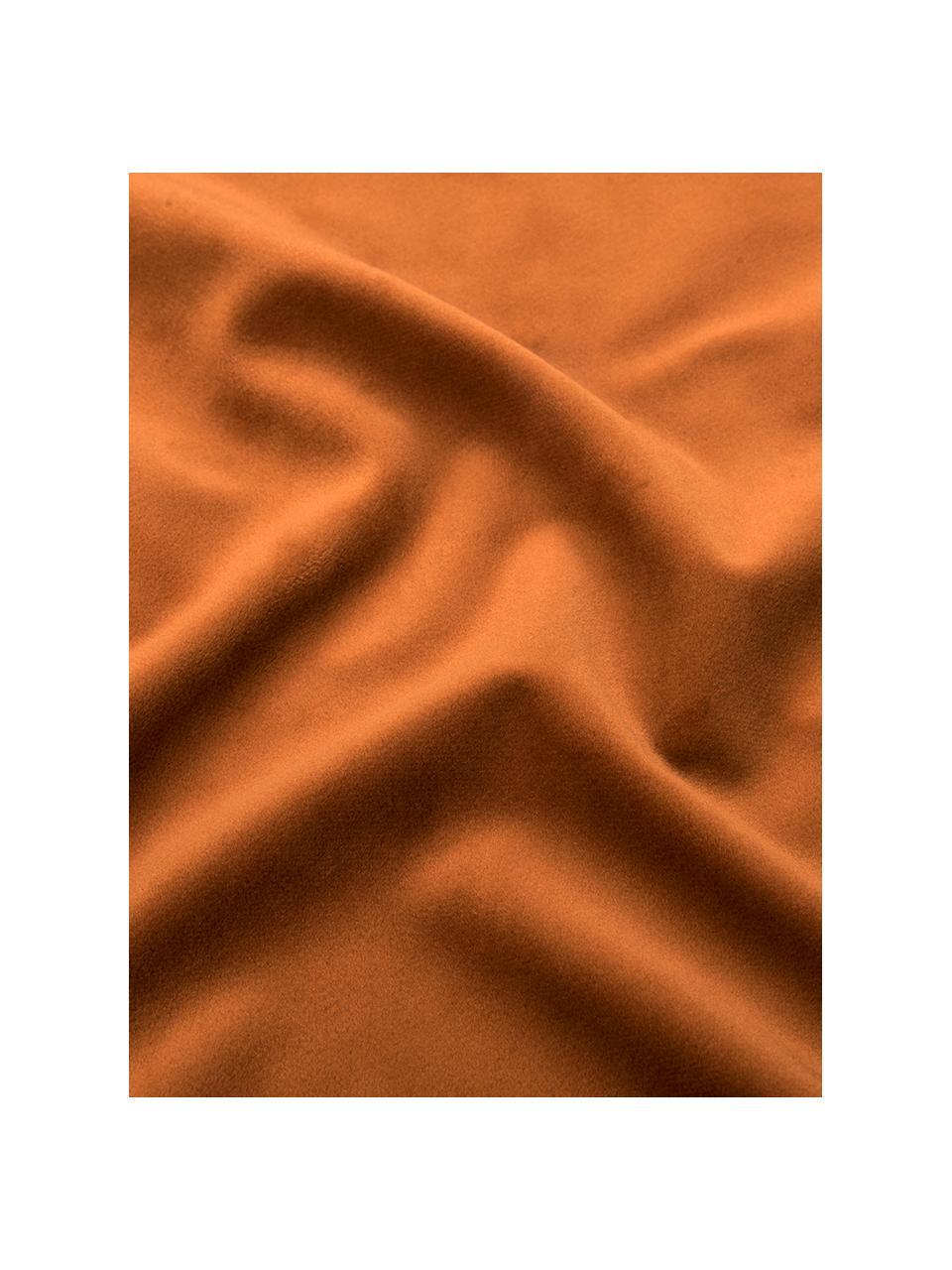 Housse de coussin 40x40 velours brillant Palmsprings, Orange, couleur dorée