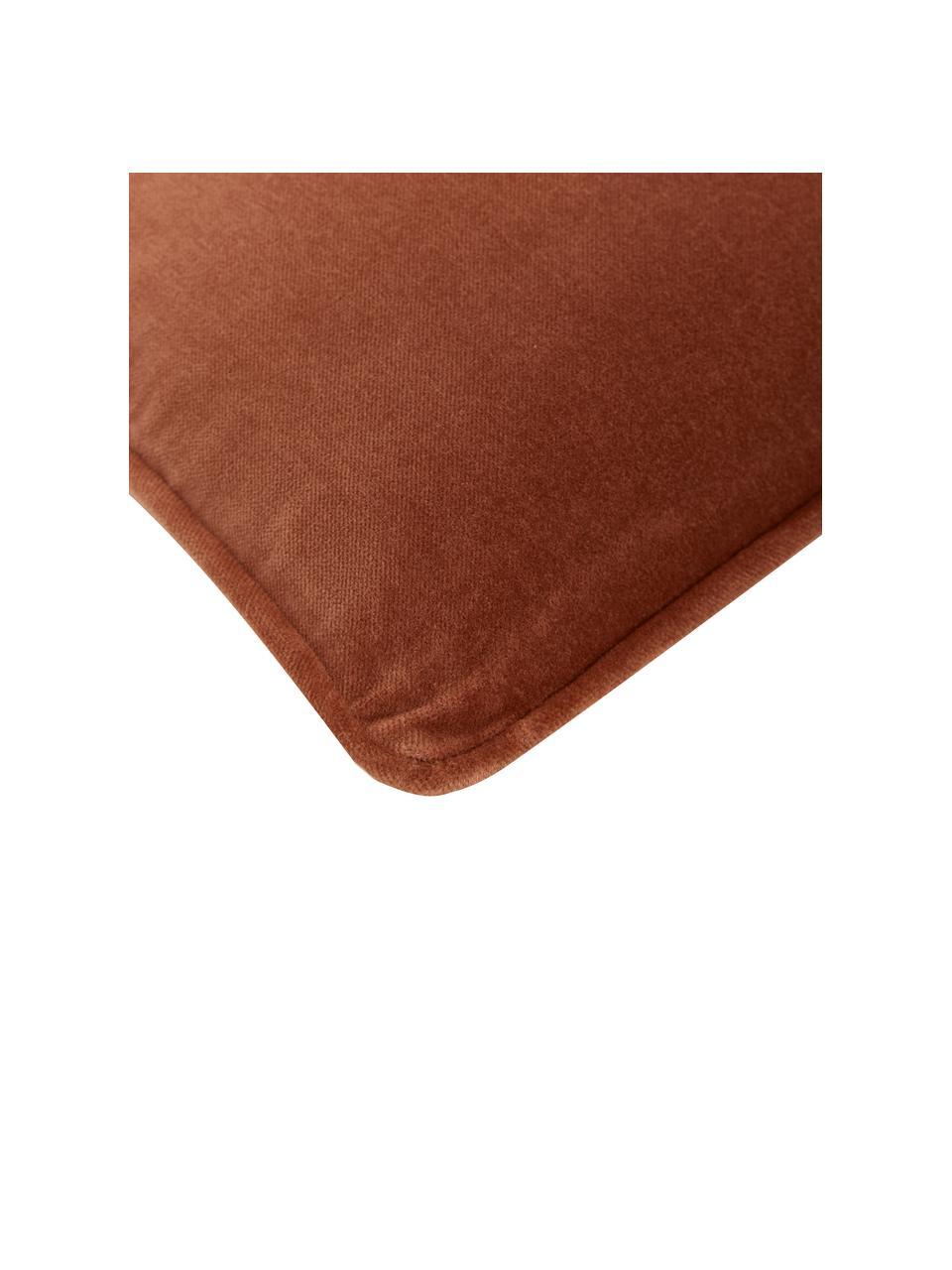 Poszewka na poduszkę z aksamitu Dana, 100% aksamit bawełniany, Czerwony, S 40 x D 40 cm
