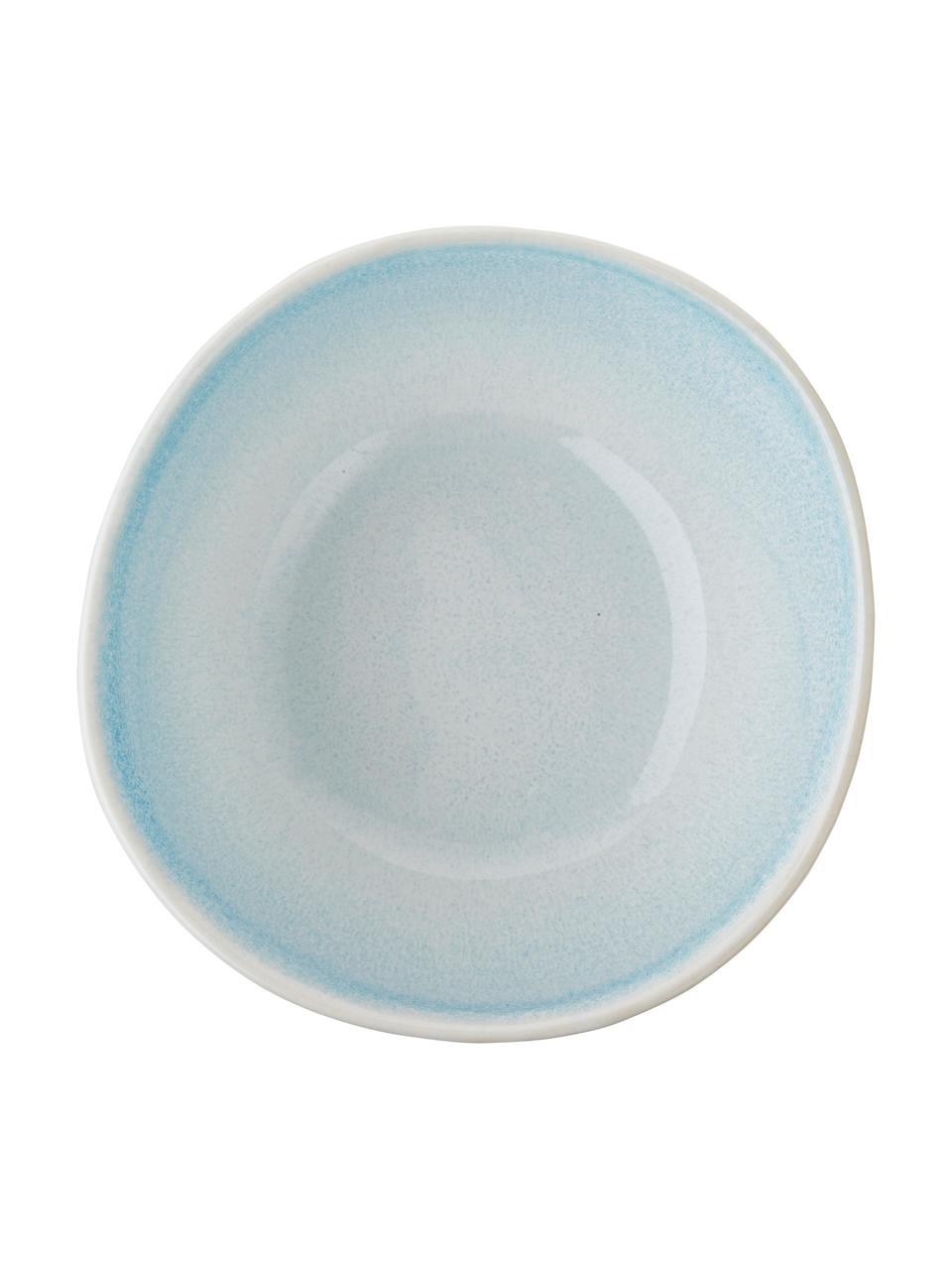 Ciotola fatta a mano Amalia 2 pz, Porcellana, Azzurro, bianco crema, Ø 14 x Alt. 7 cm