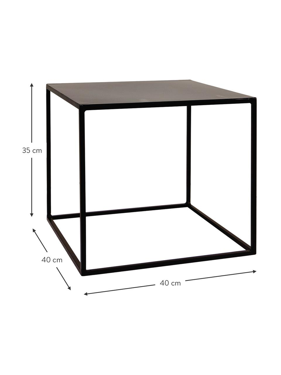 Beistelltisch Expo aus Metall, Metall, pulverbeschichtet, Schwarz, B 40 x T 40 cm