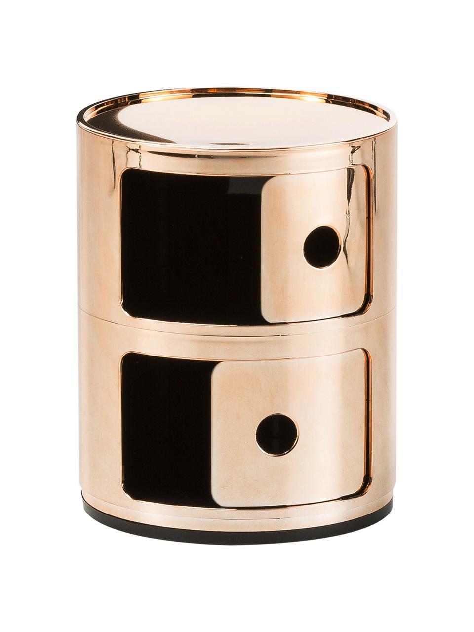 Design Container Componibili 2 Modules, Kunststoff (ABS), lackiert, Kupferfarben, Ø 32 x H 40 cm