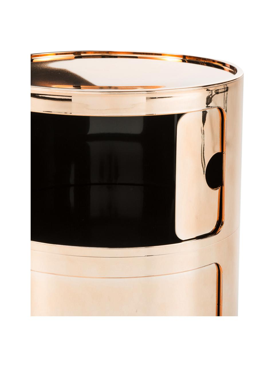 Stolik pomocniczy Componibile, Tworzywo sztuczne (ABS), lakierowane, Odcienie miedzianego, Ø 32 x W 40 cm