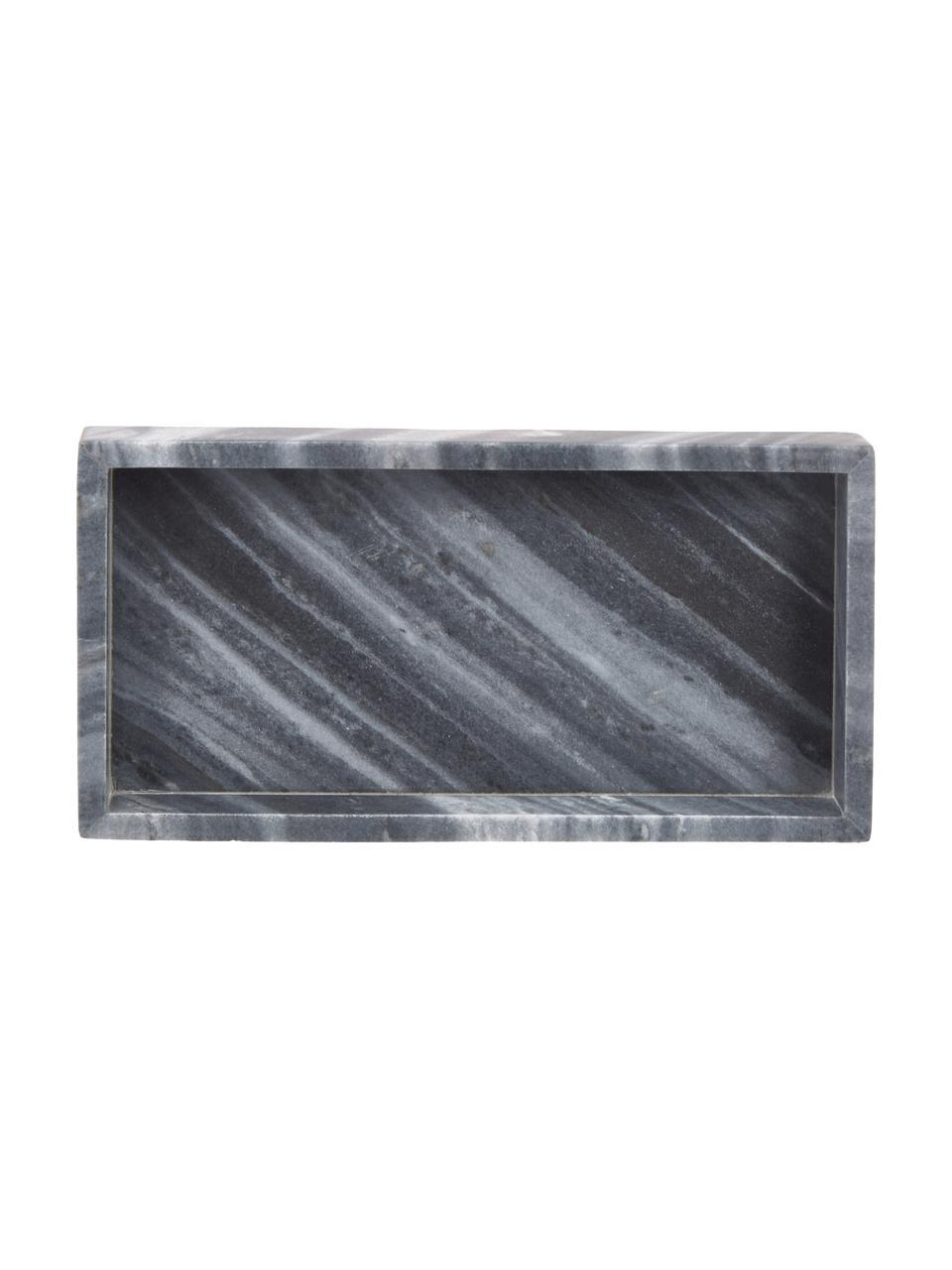 Deko-Marmor-Tablett Sienna in Grau, Marmor, Grau, 15 x 4 cm