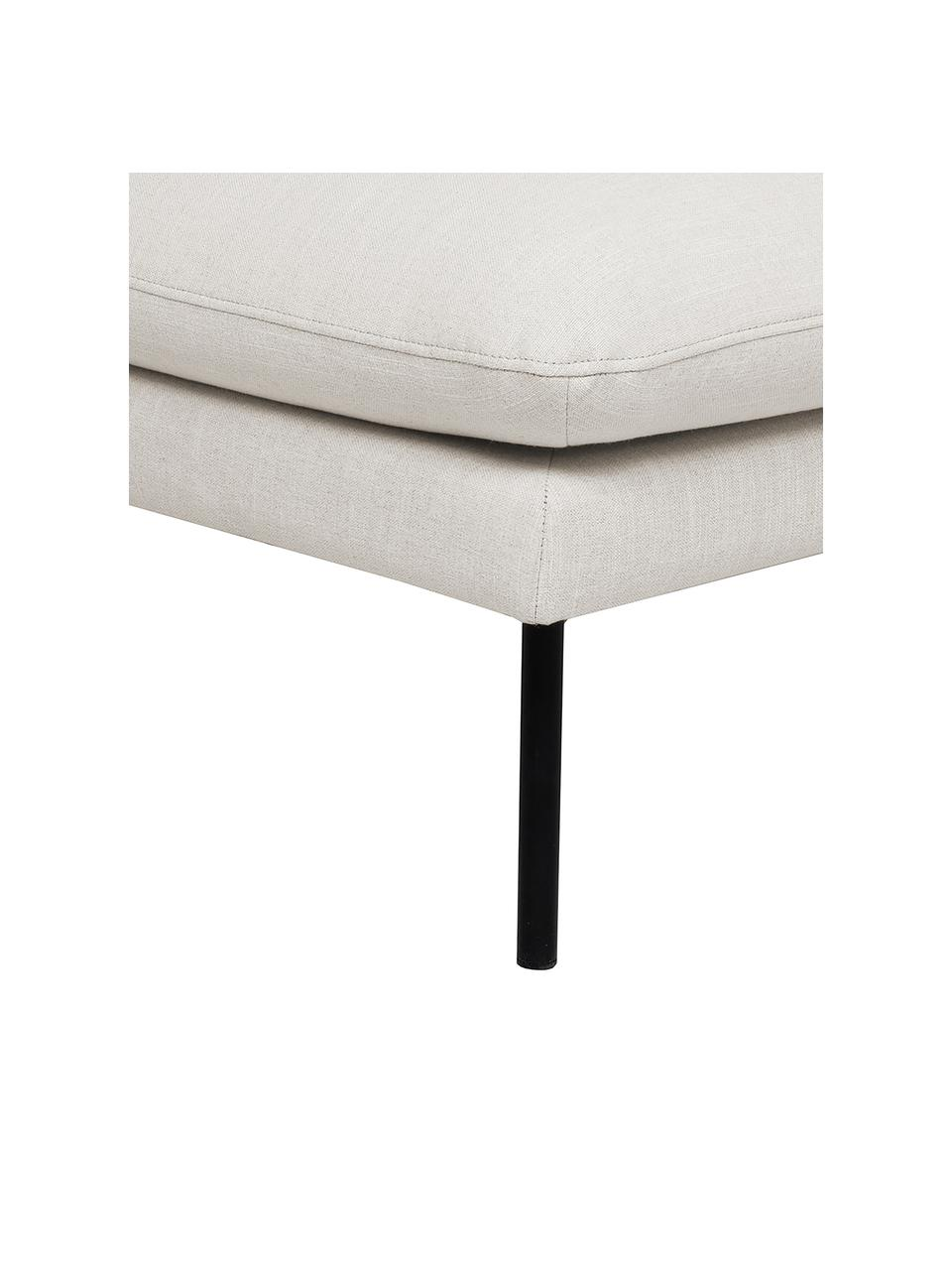 Tabouret/repose-pieds gris Moby, Beige