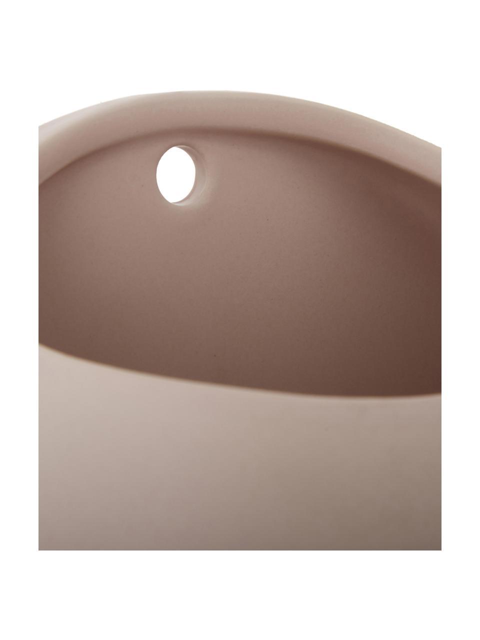 Ścienna osłonka na doniczkę z ceramiki Globe, Ceramika, Blady różowy, Ø 15 x W 10 cm