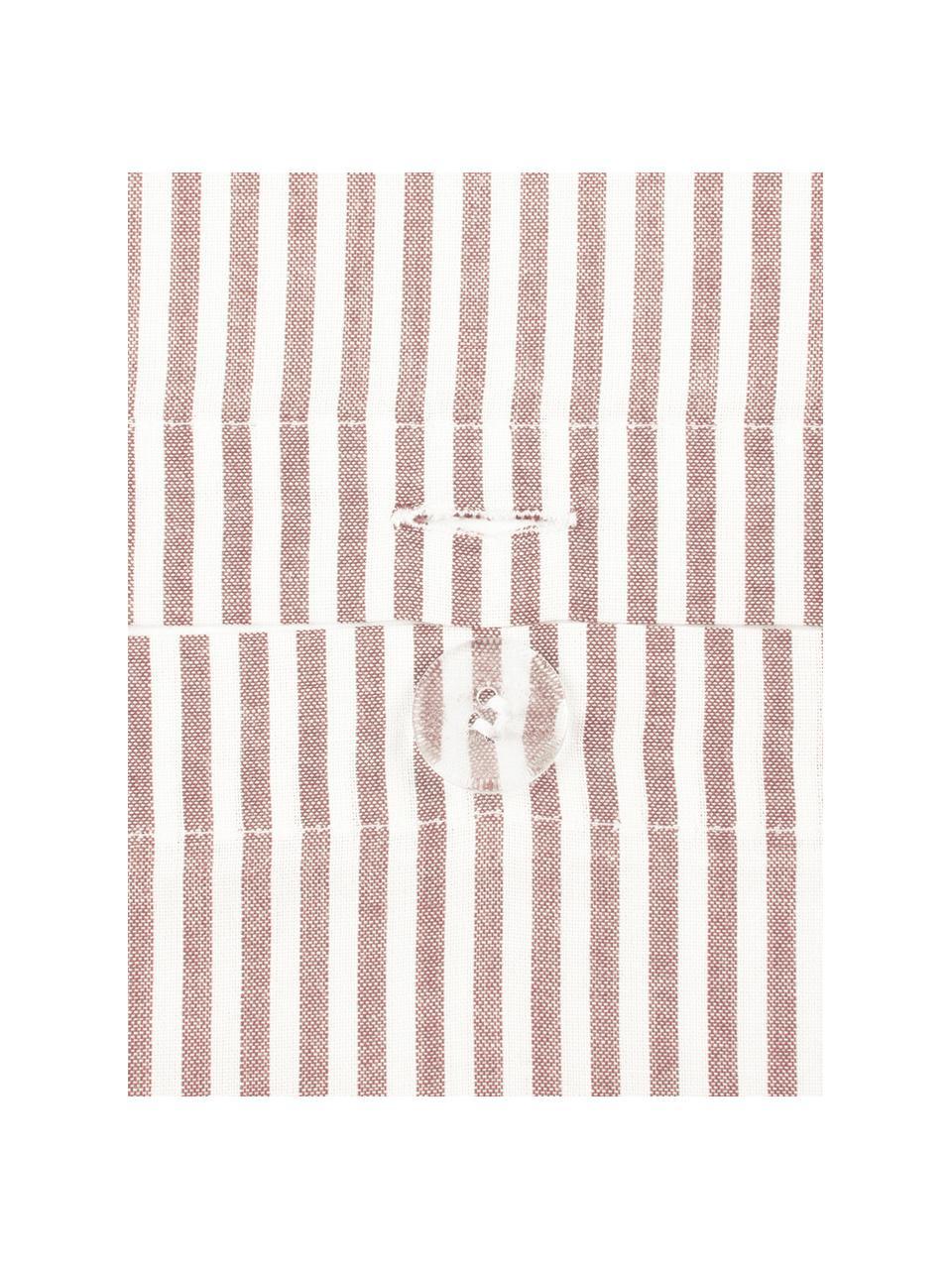 Baumwoll-Bettwäsche Ellie in Weiß/Rot, fein gestreift, Webart: Renforcé Fadendichte 118 , Weiß, Rot, 135 x 200 cm + 1 Kissen 80 x 80 cm