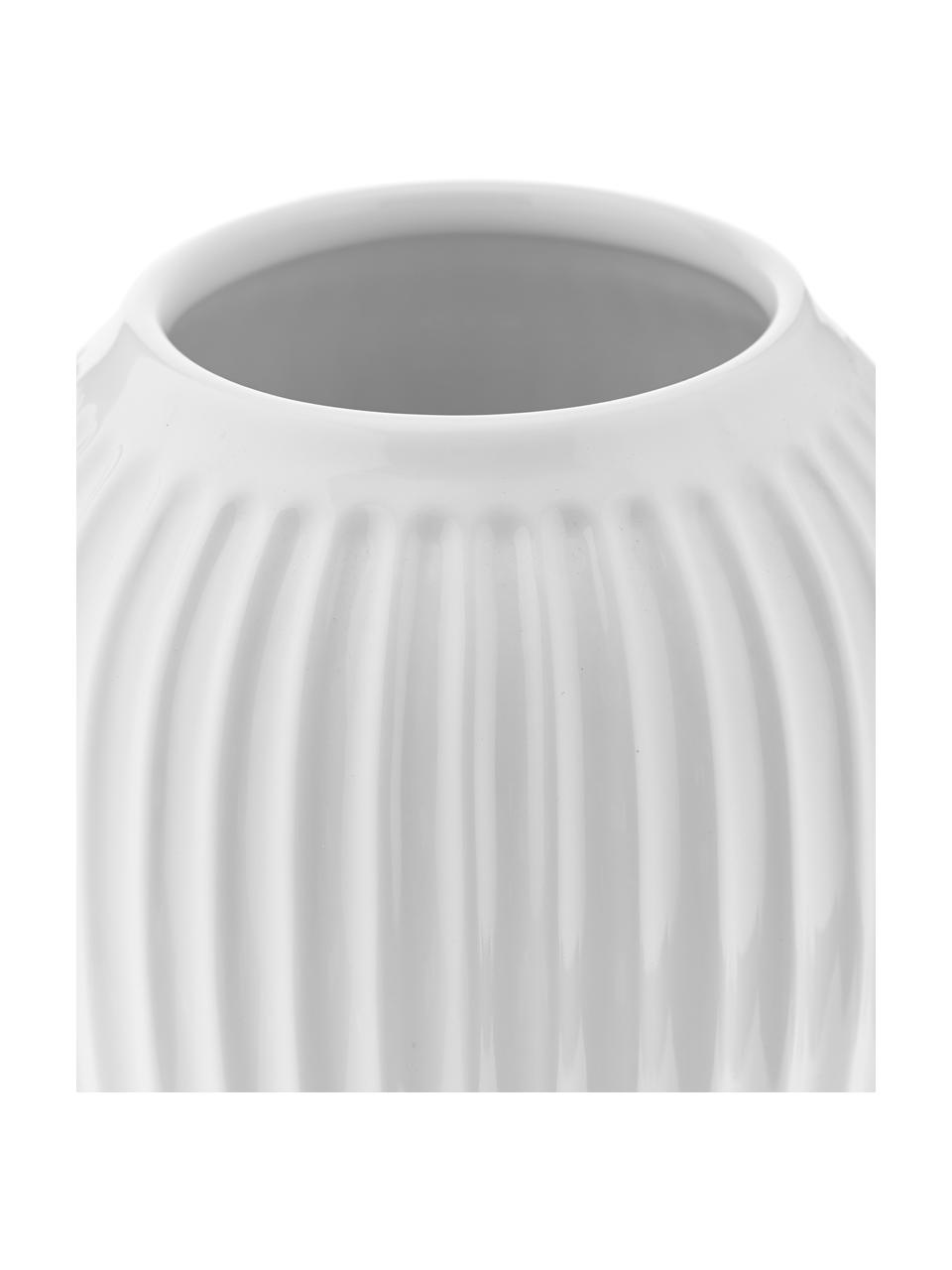 Ręcznie wykonany wazon Hammershøi, Porcelana, Biały, Ø 17 x W 20 cm