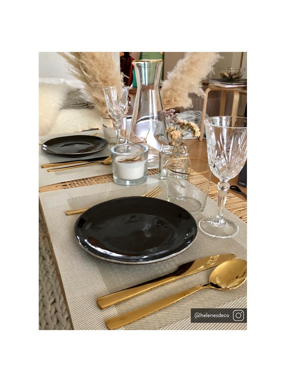Set de table en plastique Modern, 2pièces, Beige, crème