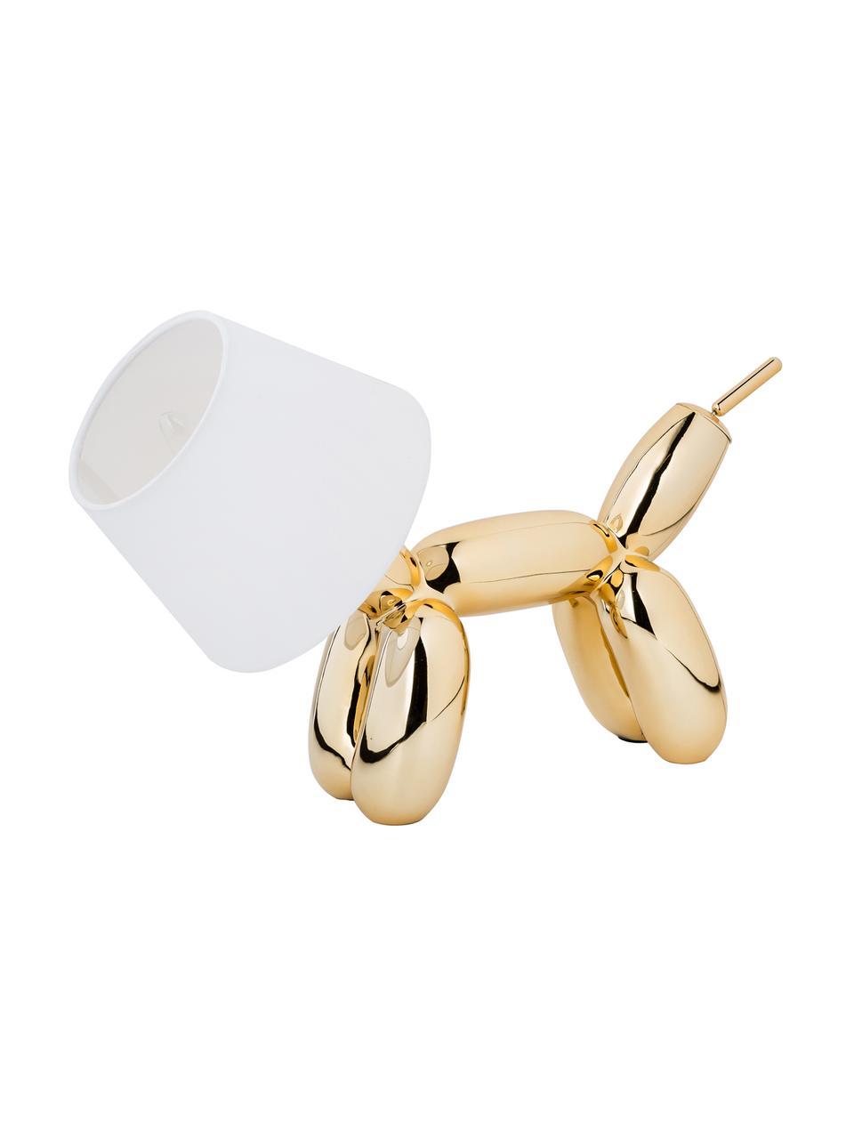 Petite lampe à poser design Doggy, Couleur dorée, blanc