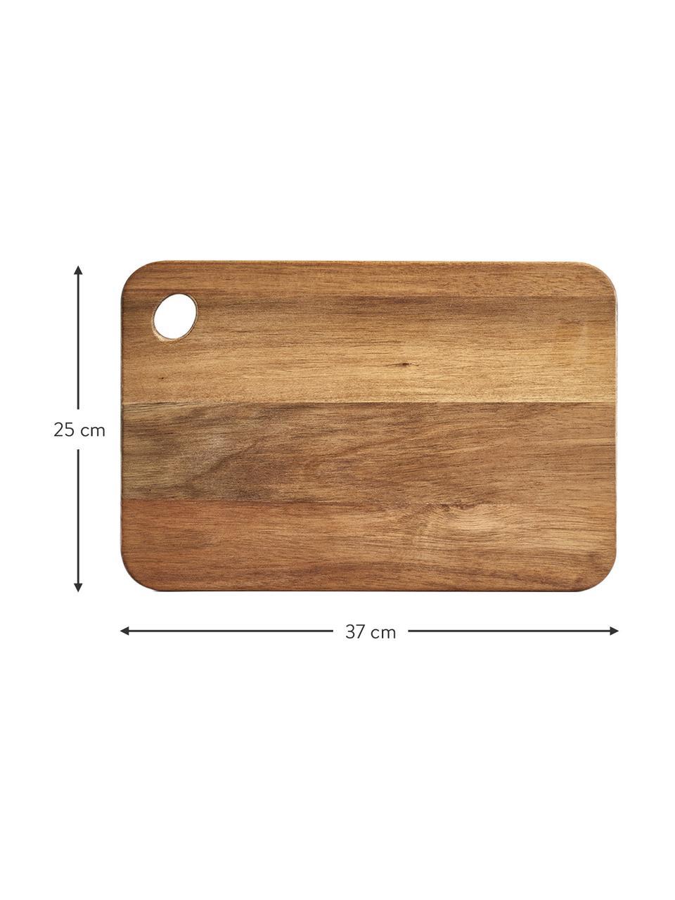 Tagliere in legno di acacia Akana, Legno di acacia oliato, Legno di acacia, Lung. 37 x Larg. 25 cm