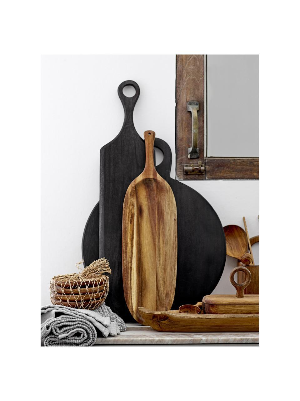 Deska do krojenia z drewna akacjowego Hola, Drewno akacjowe, powlekane, Czarny, D 46 x S 36 cm