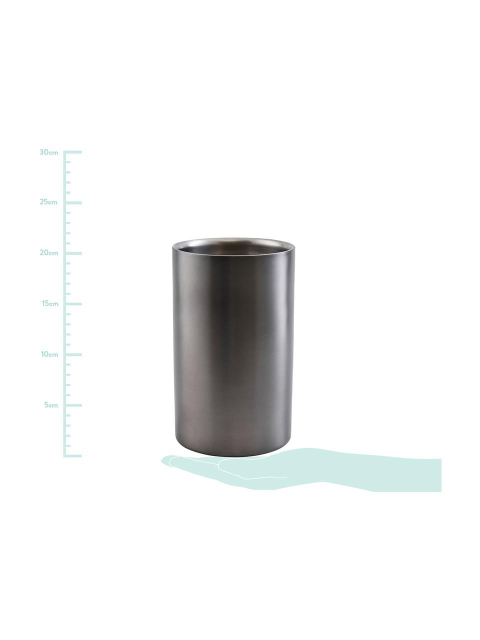Flaschenkühler Gunmetal in Anthrazit, matt, Edelstahl, beschichtet, Anthrazit, Ø 12 x H 20 cm