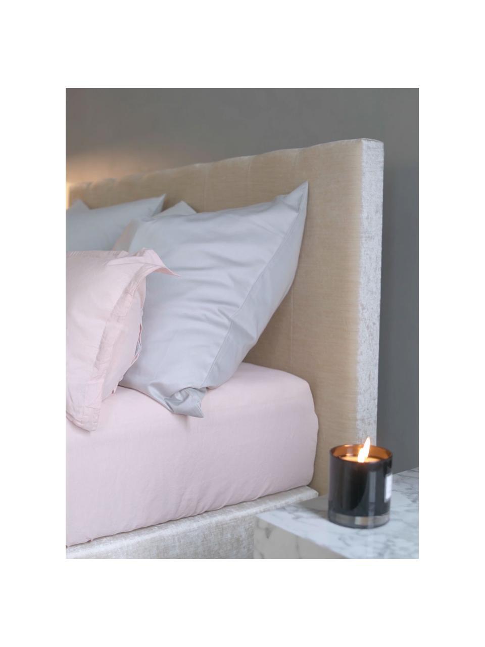 Lenzuolo con angoli in cotone biologico  rosa Premium, Rosa, Larg. 180 x Lung. 200 cm