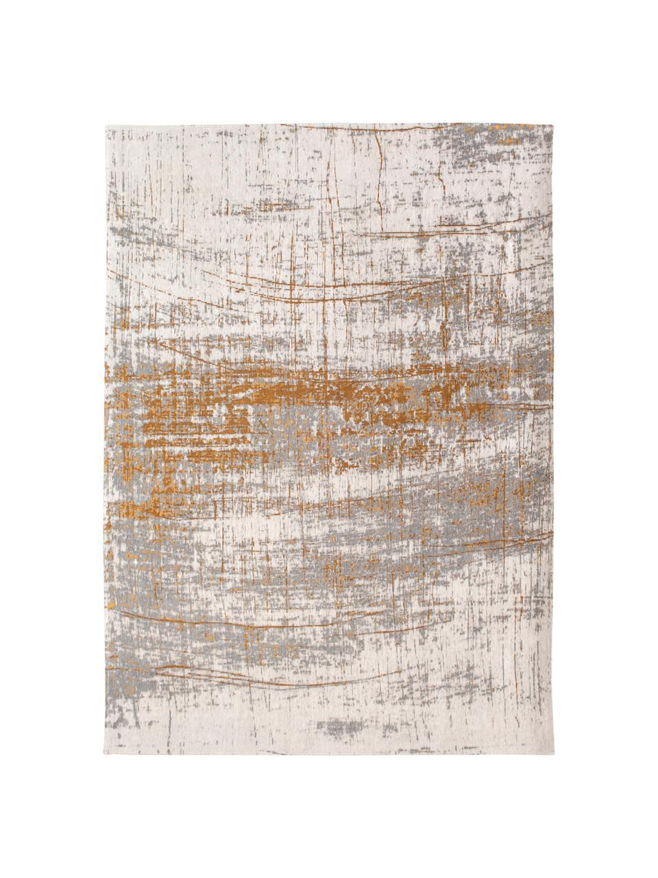 Dywan w stylu vintage Griff, Szary, odcienie złotego, biały, S 200 x L 280 cm (Rozmiar L)