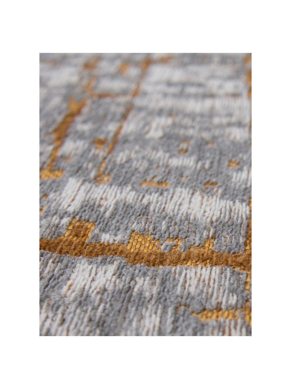 Tappeto vintage di design Griff, Retro: Cotone misto rivestito di, Grigio, dorato, bianco, Larg.170 x Lung. 240 cm  (taglia M)