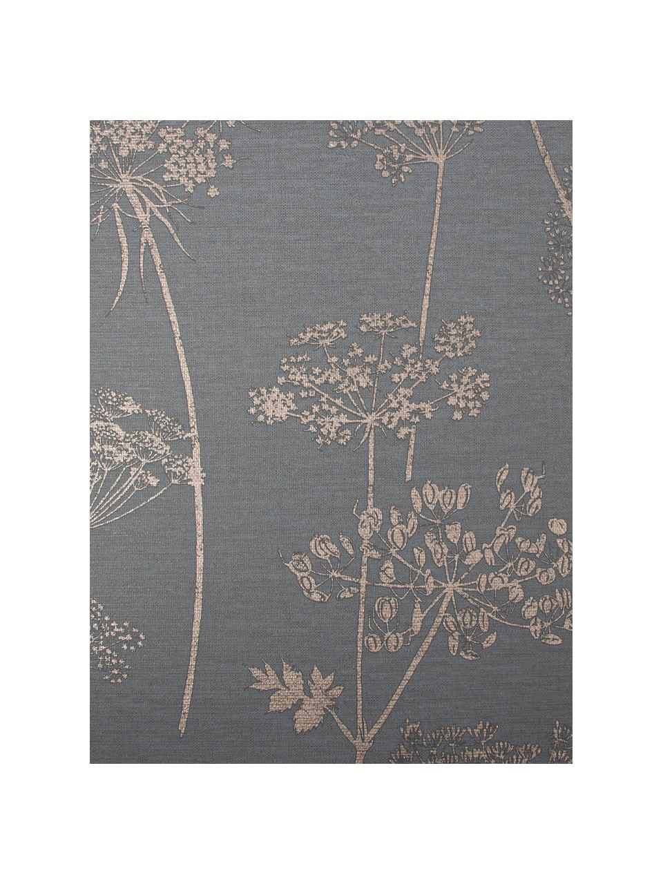 Carta da parati Stilistic Flower, Tessuto non tessuto, Grigio, beige, Larg. 52 x Alt. 1005 cm