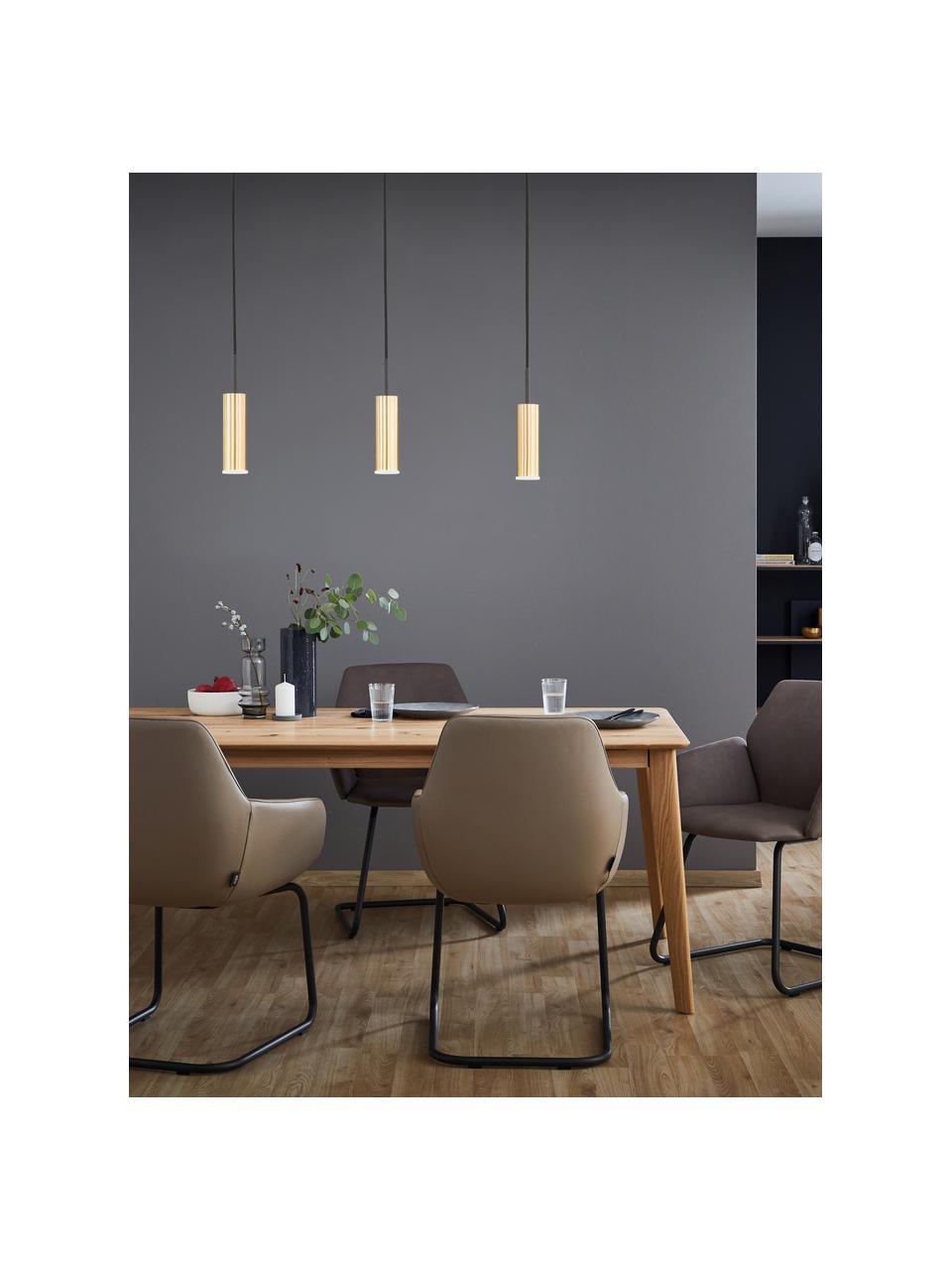 Lampa wisząca LED z funkcją przyciemniania Stina, Odcienie złotego, czarny, S 70 x W 24 cm