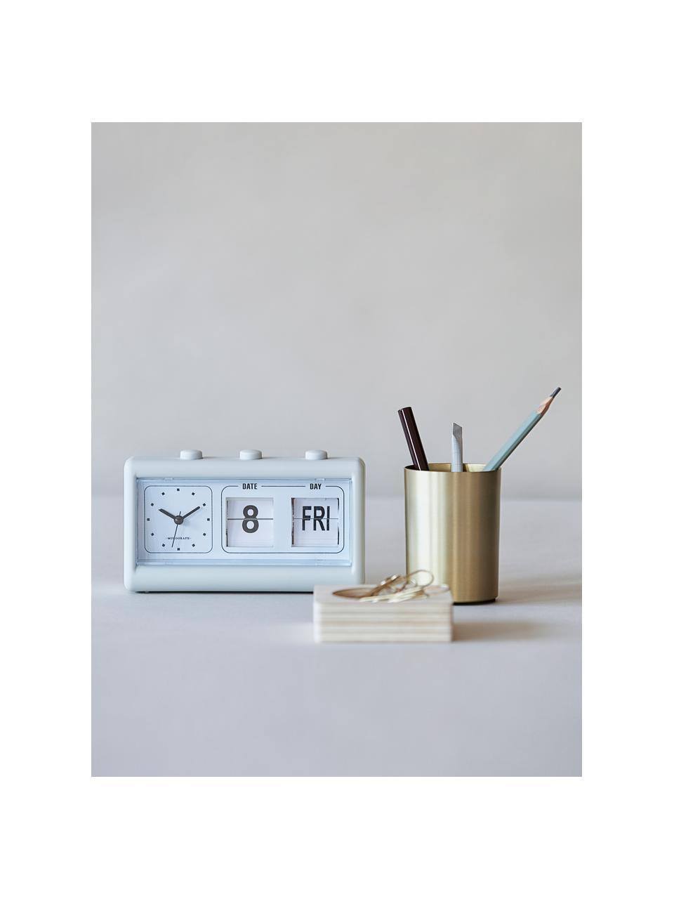 Wecker Retro, Gehäuse: PVC, Hellgrau, 19 x 11 cm