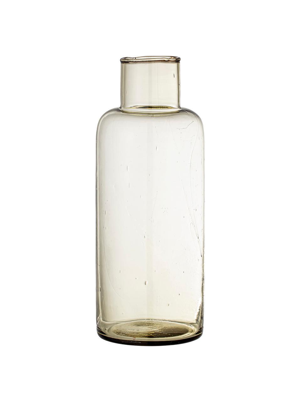Karaffe Casie aus recyceltem Glas in Braun, 1.5 L, Recyceltes Glas, Braun, transparent, H 26 cm