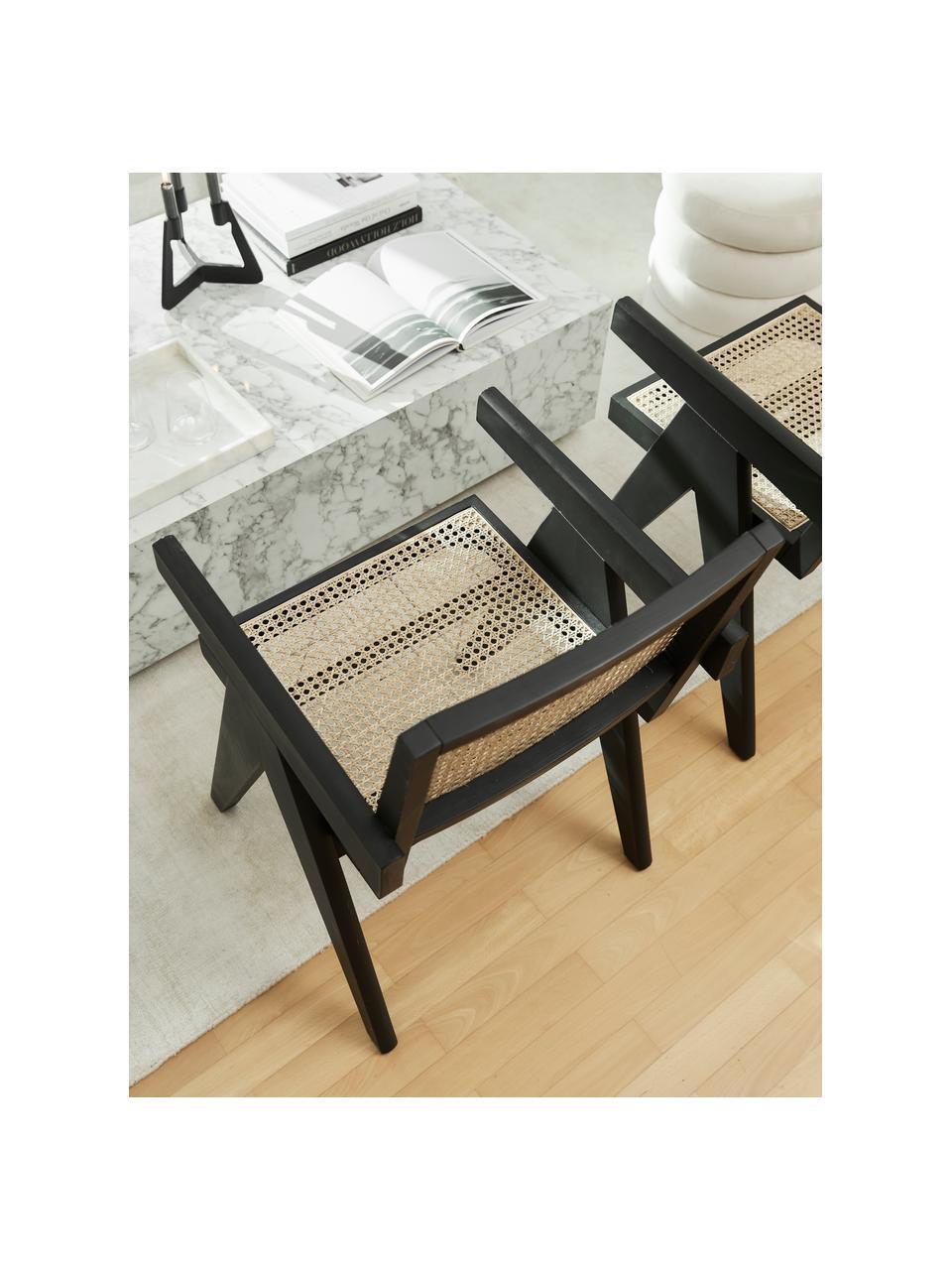 Fotel wypoczynkowy z plecionką wiedeńską Sissi, Stelaż: lite drewno bukowe, lakie, Drewno bukowe, S 58 x G 66 cm
