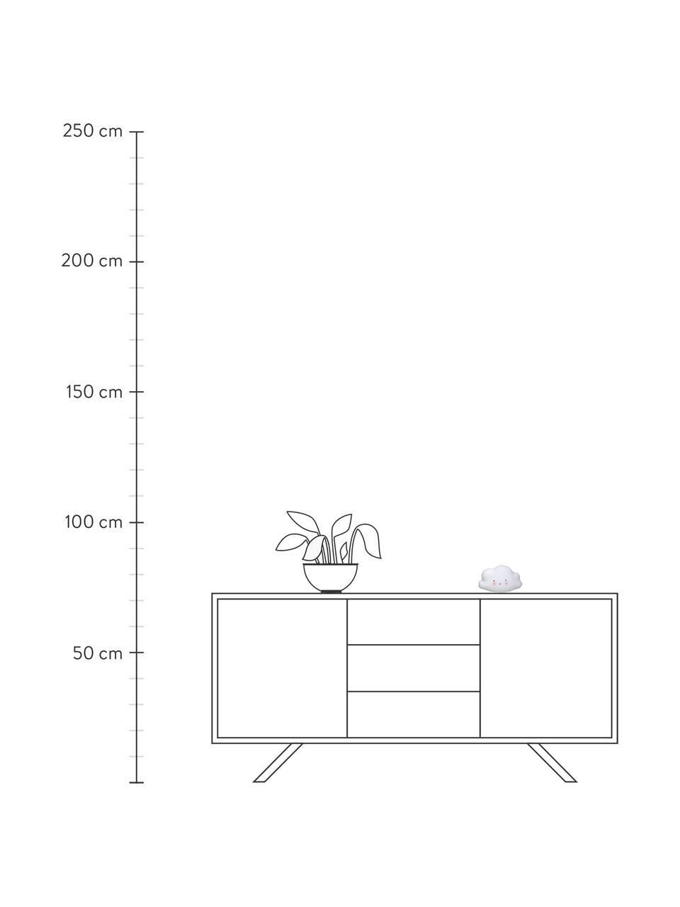 Kleines LED-Leuchtobjekt Cloud mit Timer, Kunststoff, BPA- und Bleifrei, Weiß, Rosa, Schwarz, 17 x 10 cm