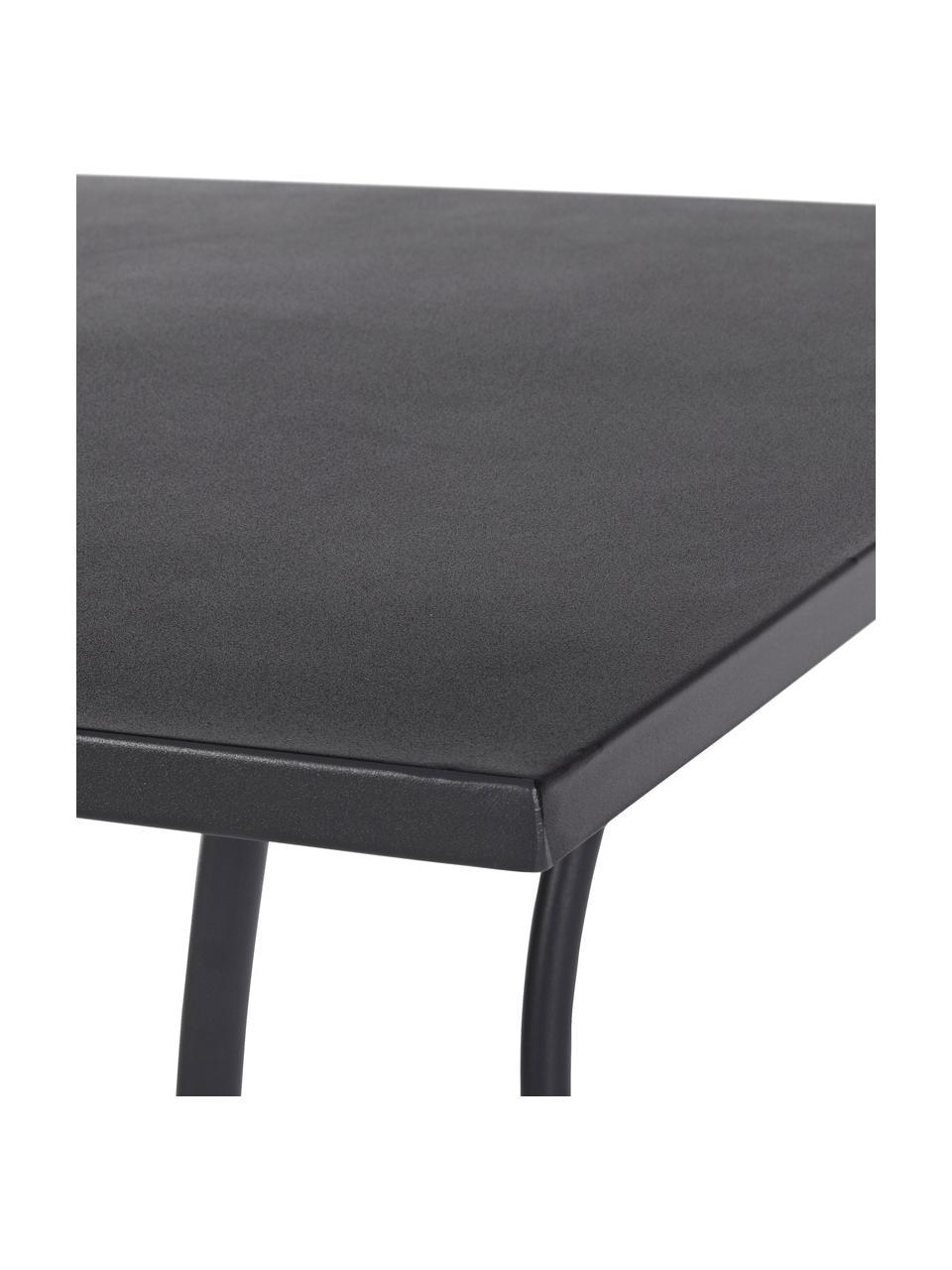 Tavolino da giardino in metallo grigio opaco Kelsie, Metallo verniciato a polvere, Grigio, Larg. 70 x Prof. 70 cm