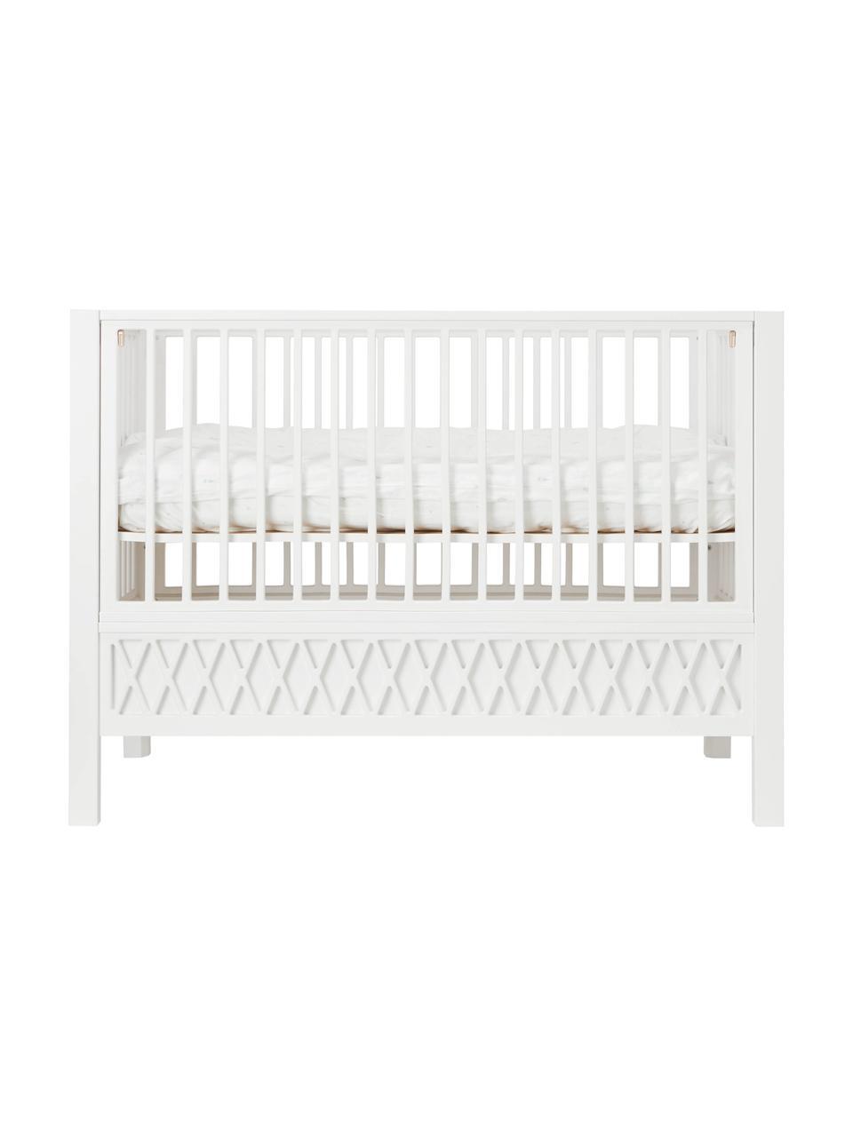 Baby-Bett Harlequin, Holz, beschichtet, Weiß, 72 x 132 cm