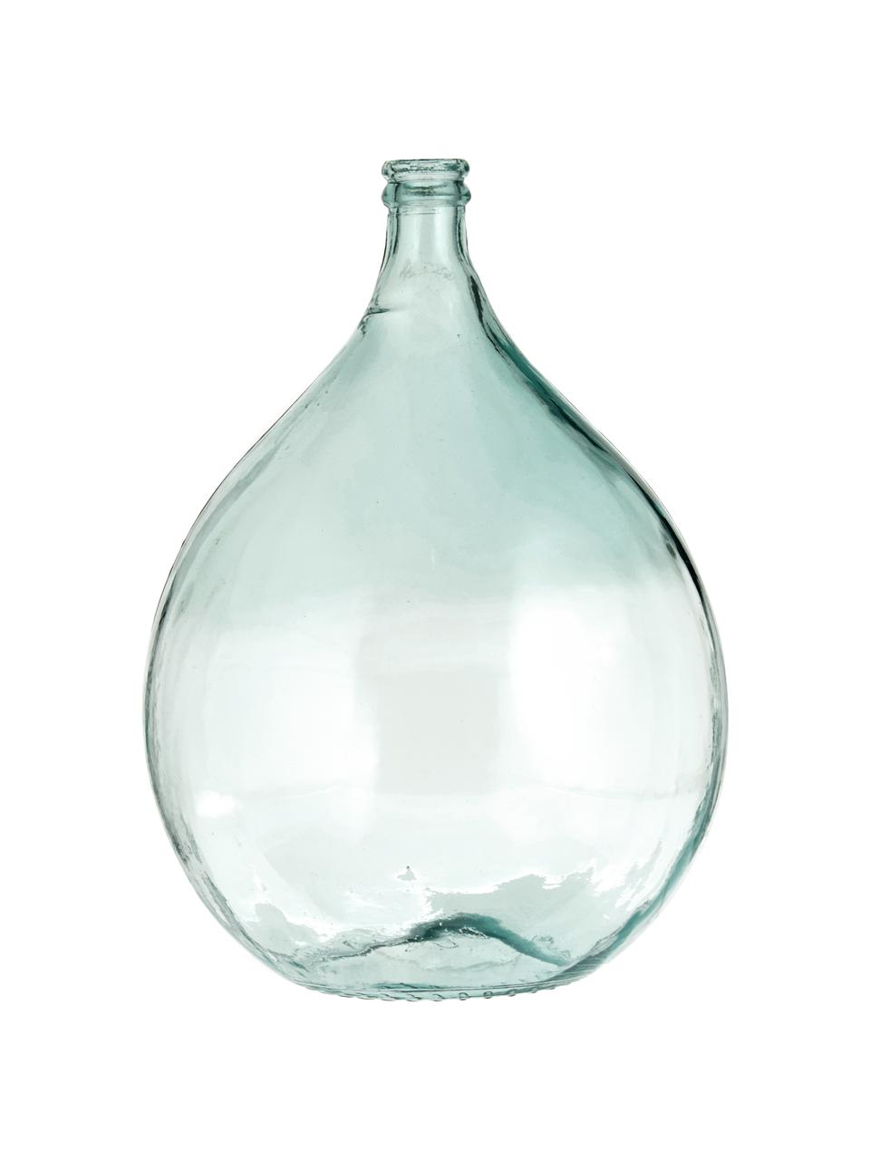 Vaso da pavimento in vetro riciclato Drop, Vetro riciclato, Azzurro, Ø 40 x Alt. 56 cm