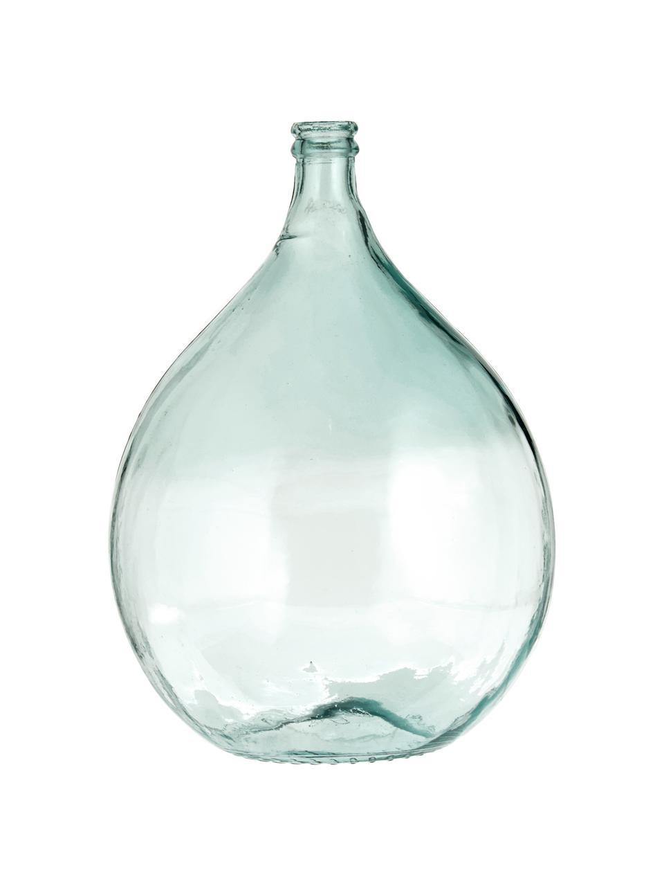 Vloervaas Beluga van gerecycled glas, Gerecycled glas, Lichtblauw, Ø 40 x H 56  cm