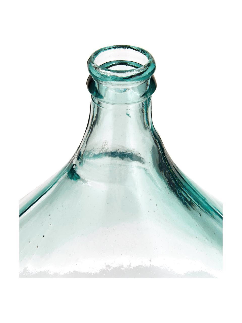 Jarrón de suelo de vidrio reciclado Mikkel, Vidrio reciclado, Azul claro, Ø 40 x Al 56 cm