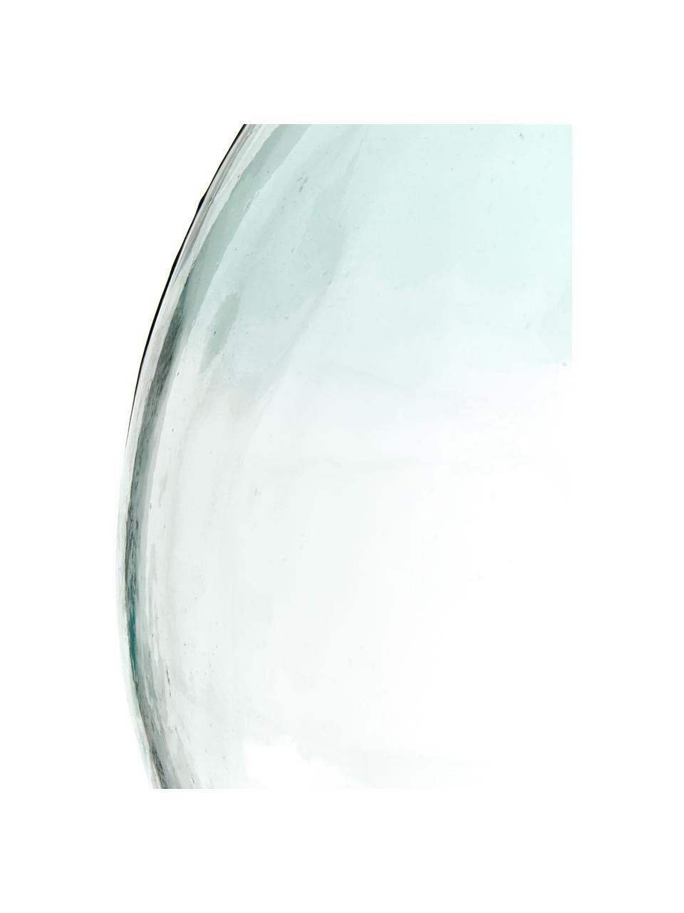 Vaso da pavimento in vetro riciclato Mikkel, Vetro riciclato, Azzurro, Ø 40 x Alt. 56 cm