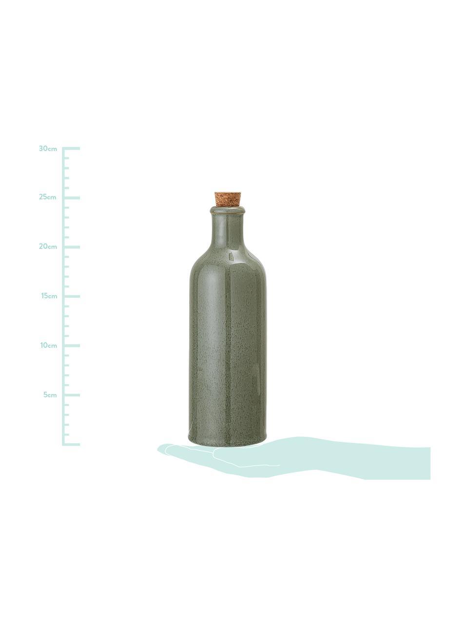 Bottiglia ermetica olio e aceto fatta a mano Pixie, Tonalità  verdi, Ø 8 x Alt. 25 cm