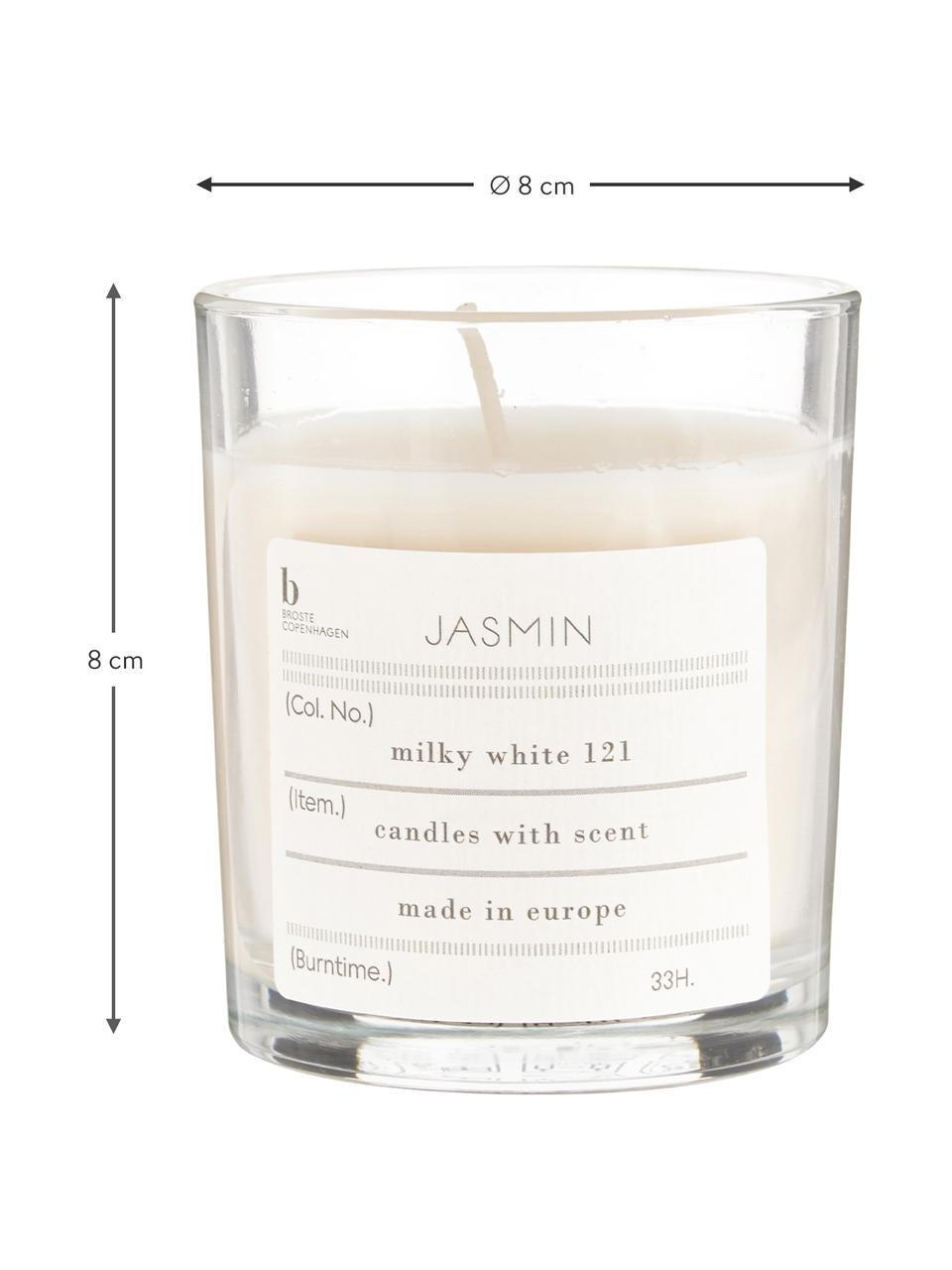 Duftkerze Isabella (Jasmin), Natürliches Sojawachs, Glas, Transparent, H 8 cm