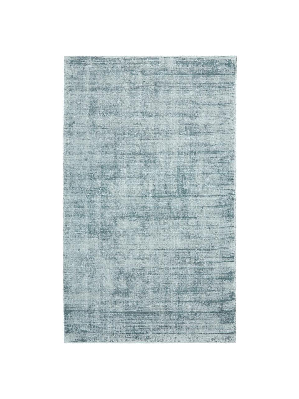 Ručně tkaný viskózový koberec Jane, Ledově modrá