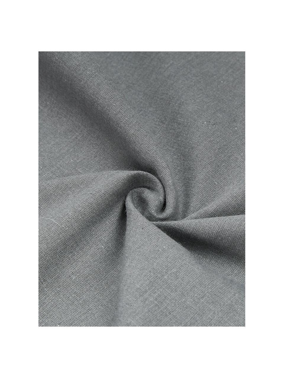 Gewaschene Baumwoll-Bettwäsche Arlene in Dunkelgrau, Webart: Renforcé Fadendichte 144 , Dunkelgrau, 135 x 200 cm + 1 Kissen 80 x 80 cm