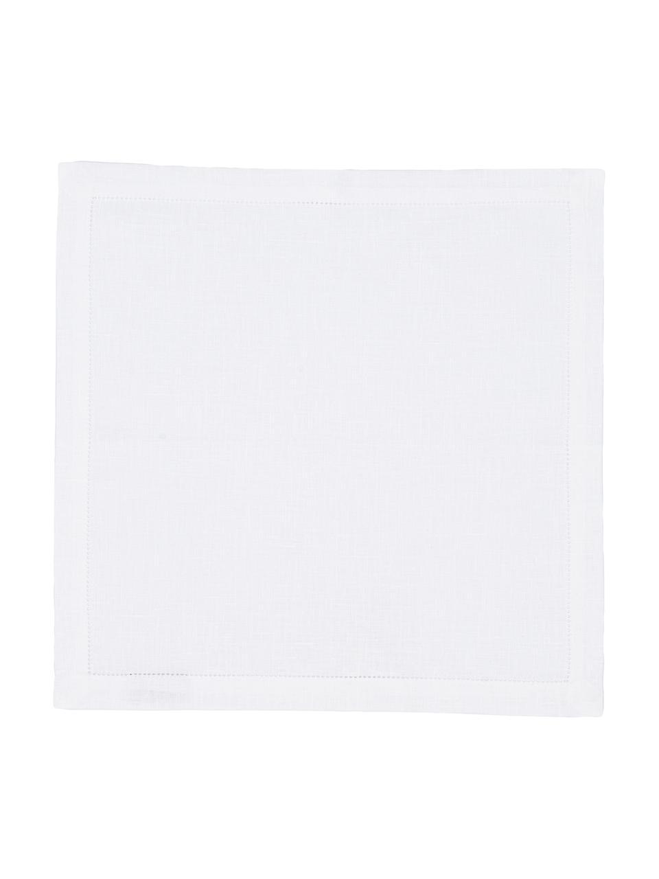 Serwetki z lnu Alanta, 6 szt., Biały, S 42 x D 42 cm