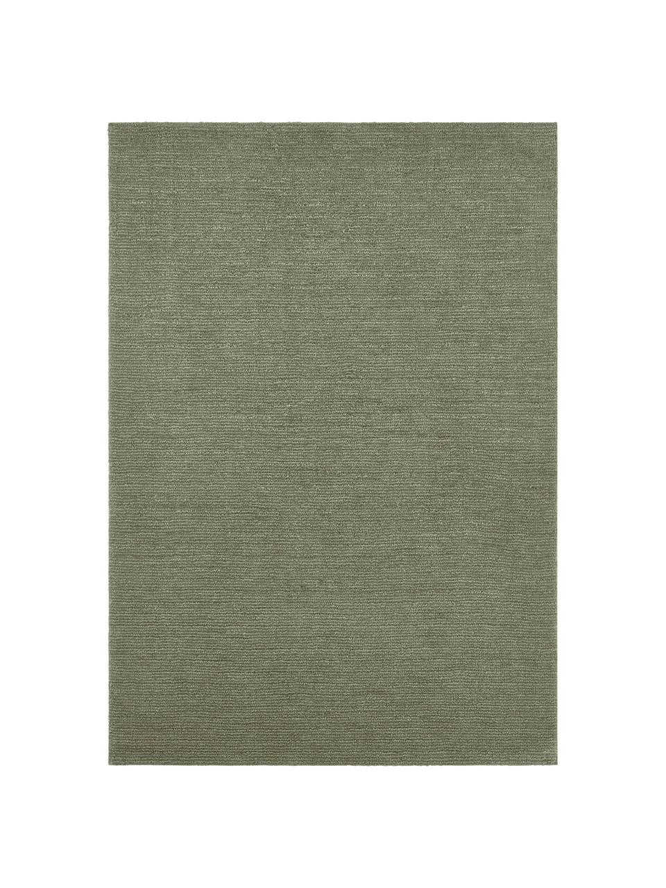 Tappeto verde muschio Supersoft, 100% poliestere, Verde muschio, Larg. 200 x Lung. 290 cm (taglia L)