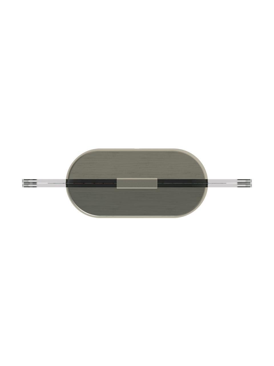 LED-Bilderrahmen Glo, Sockel: Metall, vernickelt, Nickelfarben, 13 x 18 cm