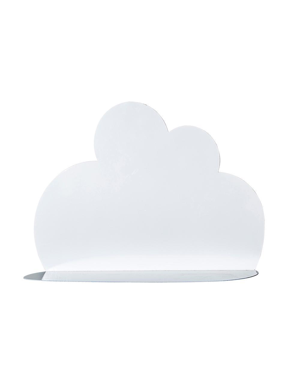 Wandregal Cloud, Metall, lackiert, Weiß, 60 x 37 cm